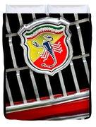 1967 Fiat Abarth 1000 Otr Emblem Duvet Cover