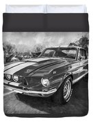 1967 Ford Shelby Mustang Gt500 Painted Bw Duvet Cover