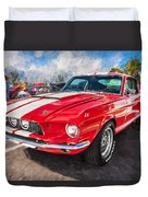 1967 Ford Shelby Mustang Gt500 Painted  Duvet Cover
