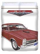 1967 G T O Pontiac Duvet Cover