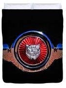 1967 Jaguar E-type Series I 4.2 Roadster Grille Emblem Duvet Cover