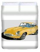 1967 Jaguar X K E Coupe Duvet Cover