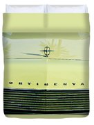1967 Lincoln Continental Grille Emblem - Hood Ornament Duvet Cover