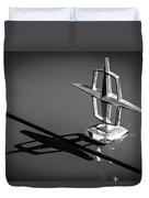 1967 Lincoln Continental Hood Ornament -1204bw Duvet Cover