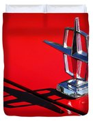 1967 Lincoln Continental Hood Ornament -1204c Duvet Cover