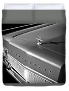 1967 Lincoln Continental Hood Ornament - Emblem -646bw Duvet Cover