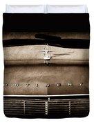 1967 Lincoln Continental Hood Ornament - Emblem Duvet Cover