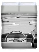 1967 Lincoln Continental Steering Wheel -014bw Duvet Cover