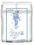 1967 Nasa Astronaut Ventilated Space Suit Patent Art 2 Duvet Cover