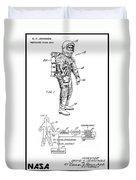 1967 Nasa Astronaut Ventilated Space Suit Patent Art 3 Duvet Cover