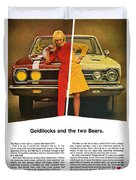 1967 Plymouth Gtx - Goldilocks And The Two Bears. Duvet Cover