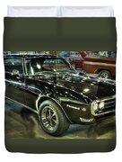 1967 Pontiac Firebird 400 Reverse Selective Color Duvet Cover