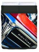1967 Pontiac Firebird Grille Emblem Duvet Cover