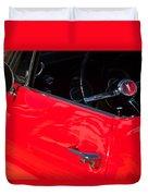 1967 Pontiac Firebird Steering Wheel Emblem Duvet Cover