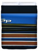 1967 Pontiac Hurst Grand Prix Convertible Taillight Emblem -3584c Duvet Cover