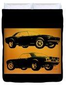 1968 Camaro Ss Side View Duvet Cover