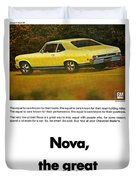 1968 Chevy Nova - The Great Equalizer Duvet Cover