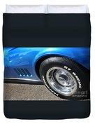 1968 Corvette Sting Ray - Blue - Side - 8923 Duvet Cover