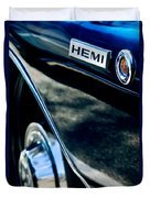 1968 Dodge Charger Rt Coupe 426 Hemi Upgrade Emblem Duvet Cover
