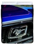 1968 Ford Mustang Cobra Gt 350 Grille Emblem Duvet Cover