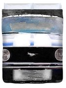 1968 Ford Mustang Front End Watercolor Duvet Cover