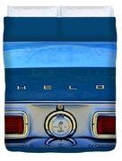 1968 Ford Shelby Gt500 Kr Convertible Rear Emblems Duvet Cover