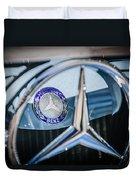 1968 Mercedes-benz 280 Sl Roadster Emblem -0919c Duvet Cover