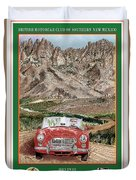 Mountain Rallying In A 1968 M G B  Duvet Cover