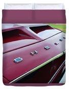 1968 Shelby Gt350 Hood Emblem Duvet Cover