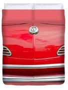1968 Volkswagen Karmann Ghia Convertible Hood Emblem Duvet Cover