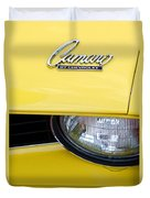 1969 Chevrolet Camaro Emblem -0241c Duvet Cover