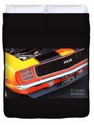 1969 Chevrolet Camaro Rs - Orange - Front End 7550 Duvet Cover