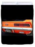 1969 Chevrolet Camaro Rs - Orange - Rear End - 7609 Duvet Cover