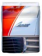 1969 Chevrolet Camaro Rs-ss Indy Pace Car Replica Hood Emblem Duvet Cover