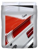 1969 Chevrolet Camaro Ss Indianapolis 500 Pace Car Rear Shot Duvet Cover