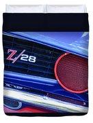 1969 Chevrolet Camaro Z28 Grille Emblem Duvet Cover