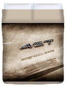 1969 Chevrolet Corvette 427 Emblem Duvet Cover