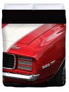 1969 Chevy Camaro Rs Duvet Cover
