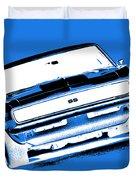 1969 Chevy Camaro Ss - Blue Negative Duvet Cover