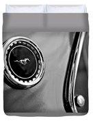 1969 Ford Mustang Mach 1 Side Emblem Duvet Cover by Jill Reger