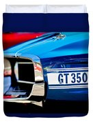 1969 Ford Mustang Shelby Gt350 Grille Emblem Duvet Cover