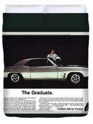 1969 Pontiac Firebird 400 - The Graduate Duvet Cover