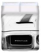 1969 Pontiac Trans Am Grille Emblem Duvet Cover