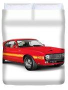 1969 Shelby Cobra Gt 500 Retro Sports Car Duvet Cover