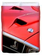 1969 Shelby Gt500 Convertible 428 Cobra Jet Hood - Grille Emblem Duvet Cover