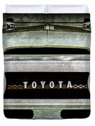 1969 Toyota Fj-40 Land Cruiser Grille Emblem -0444ac Duvet Cover