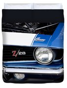 1969 Z28 Camaro Real Muscle Car Duvet Cover
