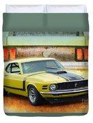 1970 Boss 302 Mustang Duvet Cover