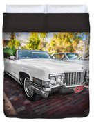 1970 Cadillac Coupe Deville Convertible Painted  Duvet Cover