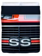 1970 Chevrolet Chevelle Ss 454 Grille Emblem Duvet Cover by Jill Reger